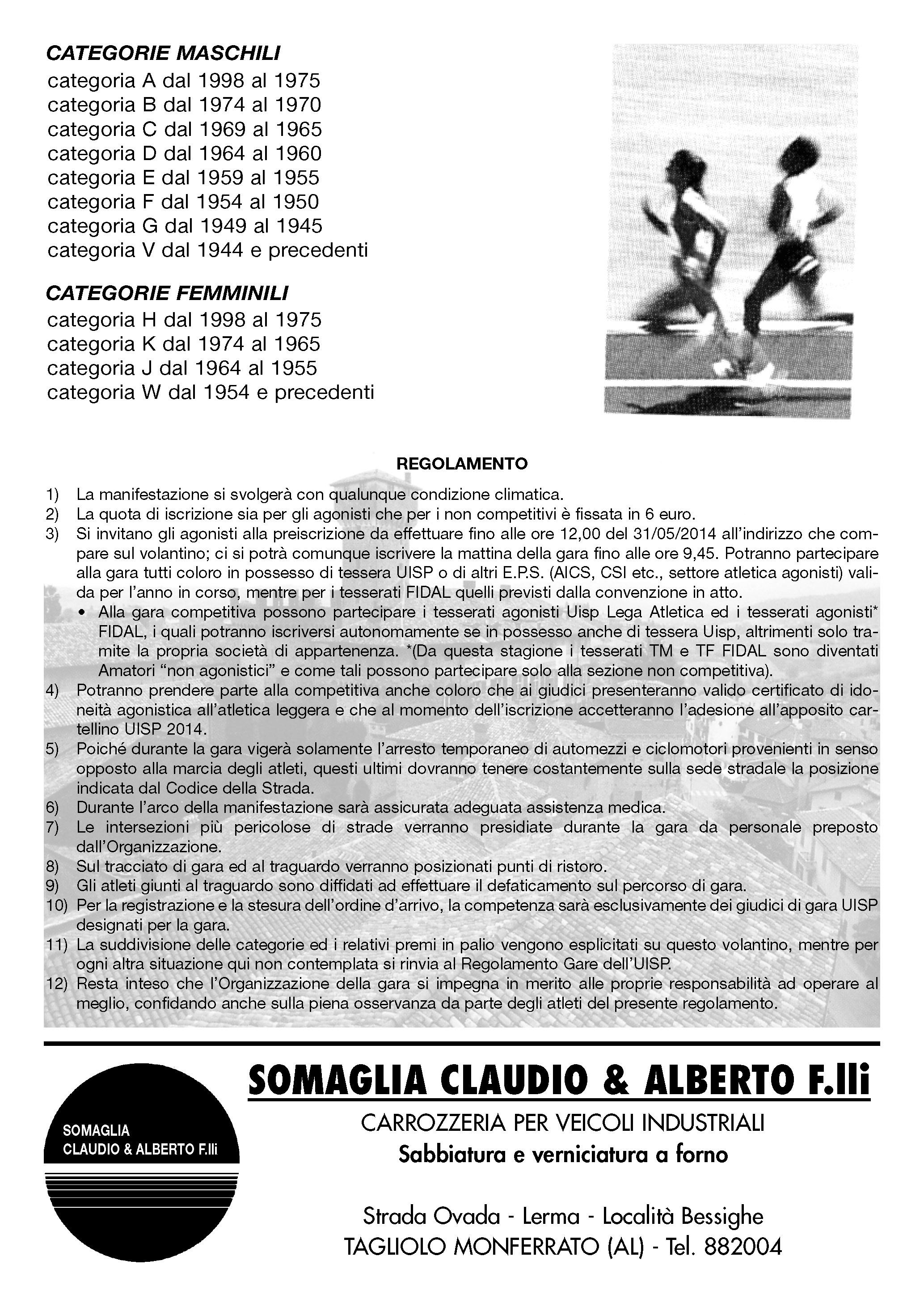 Calendario Podismo Piemonte.Calendario Podistico Ligure E Basso Piemonte Anno 2014