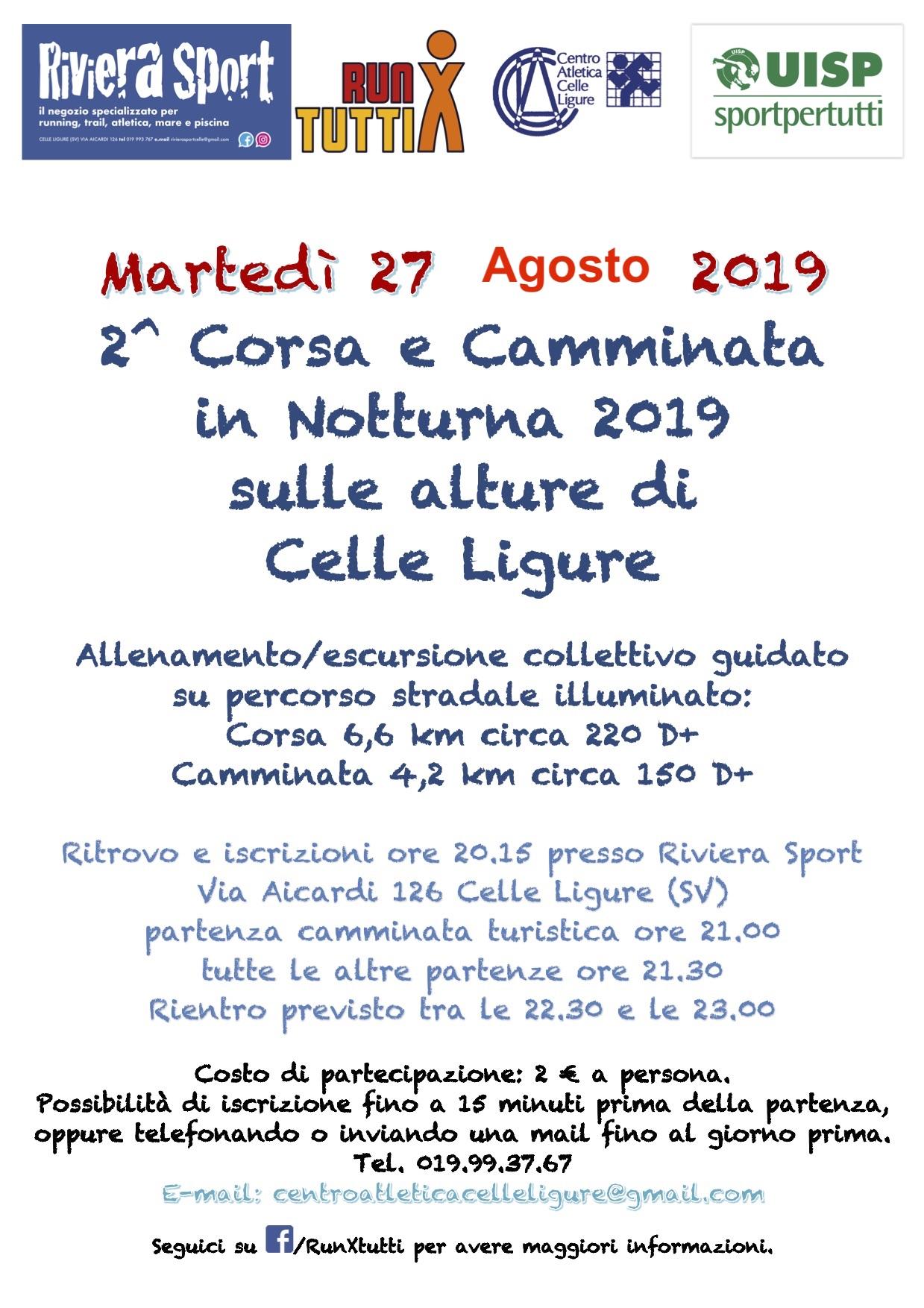 Calendario Podismo Piemonte.Calendario Podistico Ligure E Basso Piemonte Anno 2019