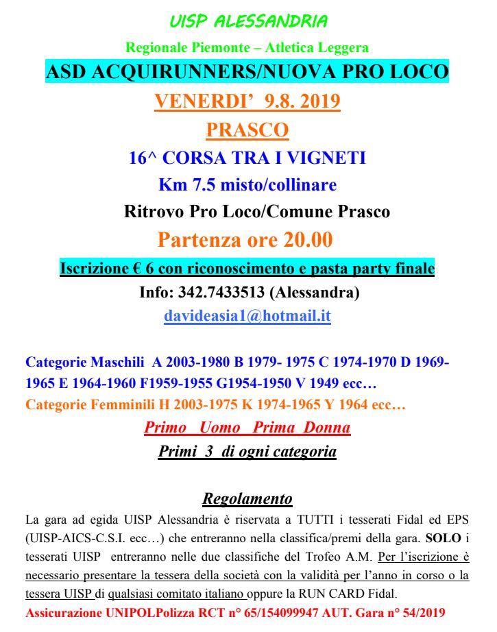 Fiasp Calendario 2020.Calendario Podistico Ligure E Basso Piemonte Anno 2019